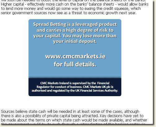 Spread Betting Ad
