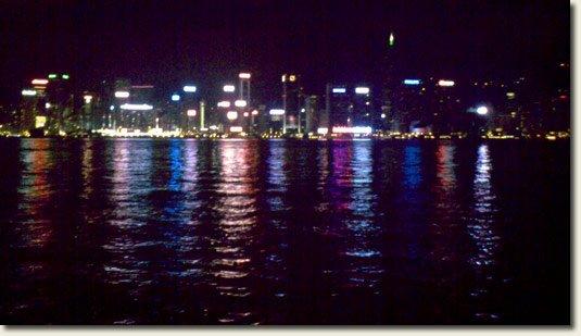 Hong Kong at night from Kowloon side