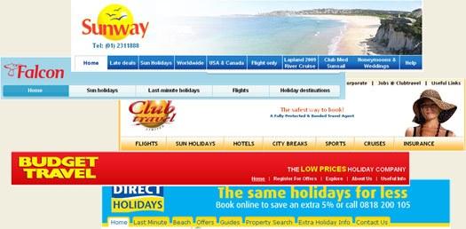 Irish Travel Agent Websites
